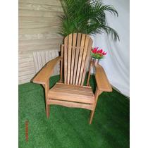 Cadeira Jardim Varanda Eucalipto Modelo Adirondack