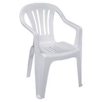 Poltrona Cadeira De Plástico Bela Vista Branca Mor (10787)