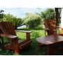 Conjunto De Cadeira Adirondack Em Peroba 90 X1,00