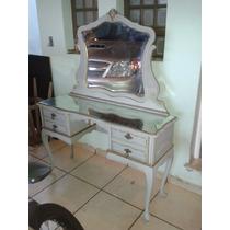 (only Wood) Penteadeira Antiga Estilo Provençal Espelho Bizo