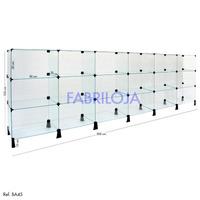 Balcão Em Vidro Para Loja - 3,00 X 1,00 X 0,30m