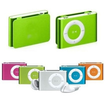 Kit C/ 21 Mp3 Player Shuffle Clip + Cabo Usb + Fones Suporta