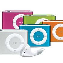 Míni Mp3 Player Shuffle Com Rádio Com Fone