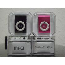 Mini Mp3 Player Shuffle Clip + Cabo Usb + Fones Vai Completo