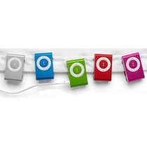 Mp3 Player Slim Suffle + Fone + Cabo Usb. Suporta Até 8 Gb