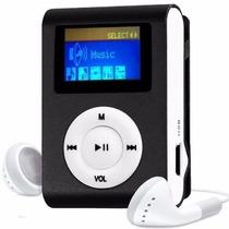 Mp3 Player Lcd Mini Leitor Sd Cartão Memoria Shuffle Fone Fm