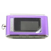 Mp3 Sony Chaveiro 2gb Roxo Pequeno Fm Facil Manuseio A7039