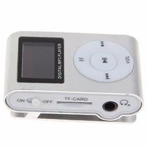 Mp3 Player Sd Lcd Clip Metal Slim Shuffle Mini - Moderno