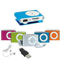 Mini Mp3 Player Shuffle + Cabo Usb + Fone P2