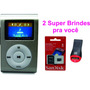 Mini Mp3 Fm Player Shuflle Clip C/ Cartão Micro 8gb + Frete
