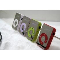 Mini Mp3 Player + Função Leitor Cartão Sd + Fone De Ouvido