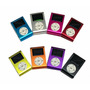 Mini Mp3 Player C/ Memoria 2gb Lcd C/ Fm Metal + Fone + Cabo