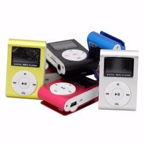 Mini Mp3 Player Shuffle Com Clip + Fone De Ouvido Carregador
