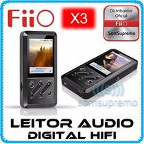 Leitor Mp3 Digital Hifi Fiio X3 C/ Dac P/ Fones De Ouvido