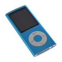 Mp4 Player Azul Com Fone Mp3 Gravador 4gb - Estojo Lacrado F
