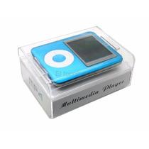 Mp4 Player Azul Com Fone Mp3 Gravador 4gb - Estojo Lacrado!