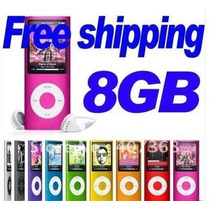 Mp4 / Mp3 Player Slim 8 Gb + Fone De Ouvido + Cabo Usb + Cas