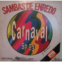 Carnaval São Paulo 1993 - Sambas De Enredo - Álbum Duplo