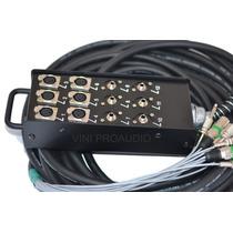 Multicabo Completo Medusa 12 Canais 6xlr 6p10 Com 20 Metros