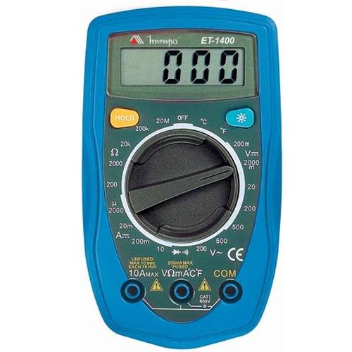 Multímetro Digital Portátil Et-1400 Profissional Minipa