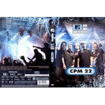 Dvd-cpm 22-ao Vivo Mtv-com Encarte Interno-em Otimo Estado