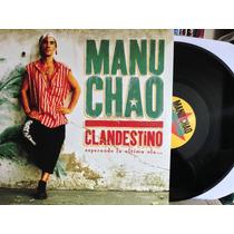 Lp Vinil + Cd Manu Chao Clandestino Duplo Novo Lacrado