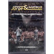 Dvd Jorge E Mateus - At The Royal Albert Hall - Novo***