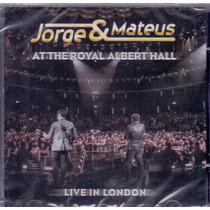Cd Jorge & Mateus - Live In London - Novo***