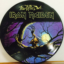 Lp Iron Maiden Fear Of The Dark Import Colorido Picture Disc