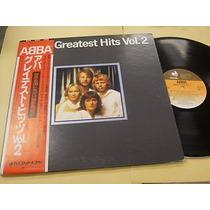 Abba - Greatest Hits Vol 2 Japones Obi Encartes C/ Letra