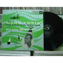 Harry Belafonte Mark Twain 1954 Lp Rca Victor Importado