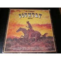 Lp 15 Great Country Hits, Disco Vinil Seminovo, Raro De 1989