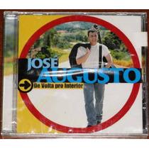 Cd José Augusto - De Volta Pro Interior - Raro Frete Grátis