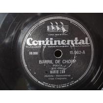 Mario Zan-78 Rpm-lp-vinil-barril De Chopp-forro-mpb