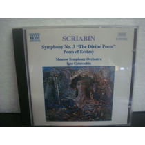 Scriabin - Symphony No.3 Poem Of Ecstasy - Cd Importado
