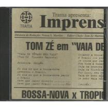 Cd Single Tom Zé - Vaia De Bêbado Não Vale - 1999