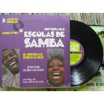 História Das Escolas De Samba Vol. 8 - Lp 10 Pol C/livreto