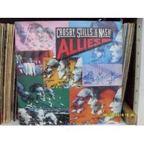Lp Crosby Stills & Nash Allies Exx Estado + Encarte Importad