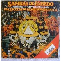 Vinil Lp Duplo Sambas De Enredos Carnaval 89