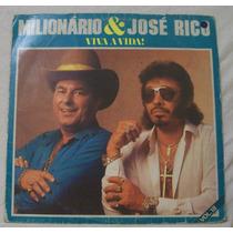 Lp Milionário E José Rico - Viva A Vida Vol 18 - Chantecler