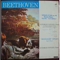 Beethoven * Guiomar Novaes Piano Lp * Sonatas Nº 14 E Nº 26