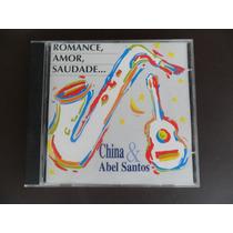 China E Abel Santos - Romance Amor Saudade Cd Autografado