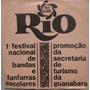 1º Festival Nacional De Bandas & Fanfarras Escolares - 1969