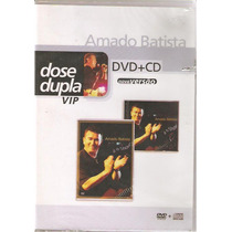 Dvd + Cd Dose Dupla - Amado Batista - C/ Peq Corte Na Capa -