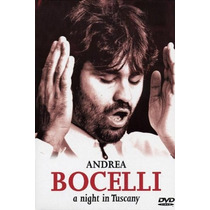 Dvd Andrea Bocelli A Night In Tuscany =import= Novo Lacrado