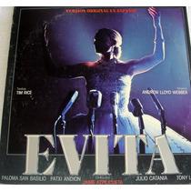 Vinil/lp -evita - Version Original En Espanol 1980