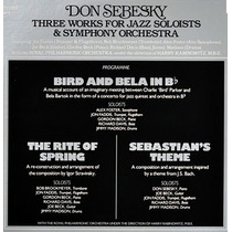 Don Sebesky 1979 Three Works Jazz Soloists & Orchestra Lp