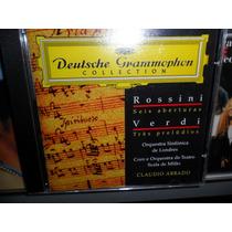 Cd Rossini Seis Aberturas / Verdi 3 Prelúdios Frete 8,00 R$