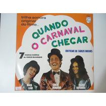 Disco Vinil Lp Chico Buarque Quando O Carnaval Chegar ##