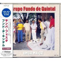 Cd Grupo Fundo De Quintal - Amor Maior - 1990